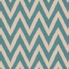 Teal Flamestitch Decorator Fabric by Fabricut