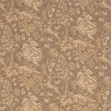 Warm Pewter Animal Decorator Fabric by Vervain