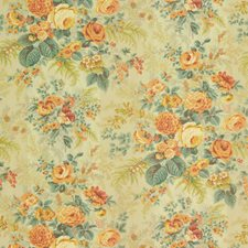 Melon Floral Decorator Fabric by Vervain