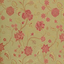 Cranberry Floral Decorator Fabric by Vervain