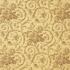 Mustard Floral Decorator Fabric by Vervain