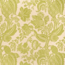 Avocado Floral Decorator Fabric by Vervain