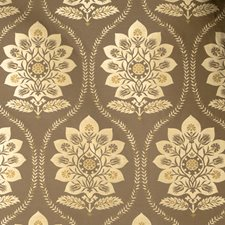 Mushroom Damask Decorator Fabric by Vervain