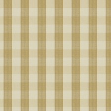 Soft Gold Check Decorator Fabric by Vervain