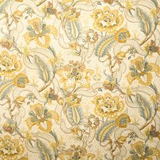 Maize Floral Decorator Fabric by Vervain