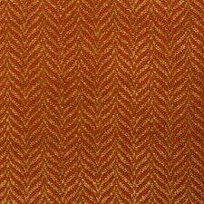 Cinnabar Herringbone Decorator Fabric by Vervain