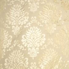 Cream Damask Decorator Fabric by Trend
