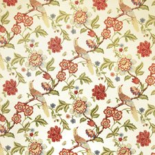 Punch Jacobean Decorator Fabric by Trend