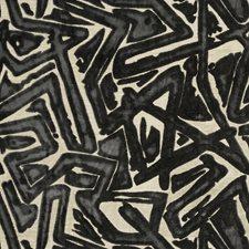 Slate Geometric Decorator Fabric by S. Harris
