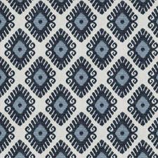 Indigo Geometric Decorator Fabric by Trend
