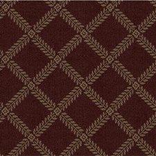 Burgundy/Red/Beige Lattice Decorator Fabric by Kravet