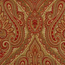Gold/red Decorator Fabric by Duralee
