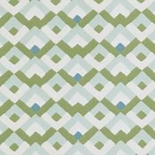 Aqua/Green Diamond Decorator Fabric by Duralee