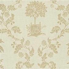 White/Beige Botanical Decorator Fabric by Kravet