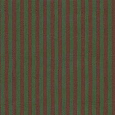 Green/Burgundy/Red Stripes Decorator Fabric by Kravet