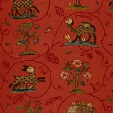 Flame Red Decorator Fabric by Schumacher