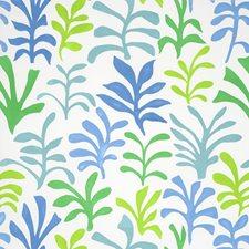 Leaf/Ocean Decorator Fabric by Schumacher