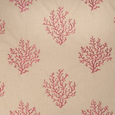 Coral Embroidery Decorator Fabric by Fabricut