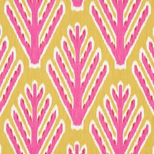 Yellow/Pink Decorator Fabric by Schumacher