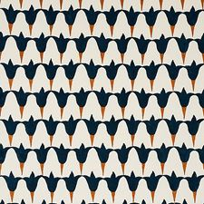 Midnight/Copper Decorator Fabric by Schumacher