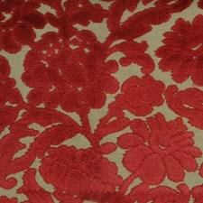 Red Decorator Fabric by Highland Court