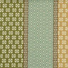 Turquoise/olive Decorator Fabric by Highland Court