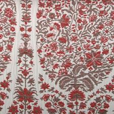 Cinnabar Floral Large Decorator Fabric by Highland Court