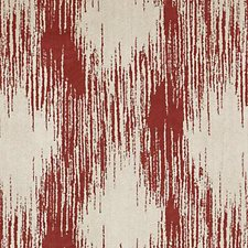 Red Abstract Decorator Fabric by Highland Court