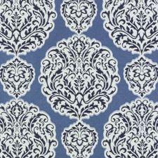 Indigo Damask Decorator Fabric by Duralee