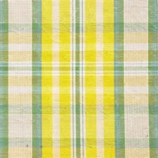 Yellow/Green Plaid Decorator Fabric by Kravet
