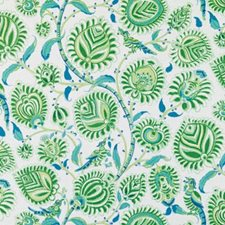 Sea Green Birds Decorator Fabric by Duralee