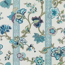 Peacock Floral Large Decorator Fabric by Duralee