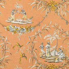 Melon Birds Decorator Fabric by Duralee