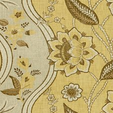 Yellow Print Decorator Fabric by Lee Jofa