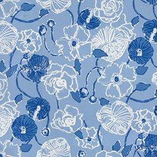 Tide Blue Botanical Decorator Fabric by Lee Jofa