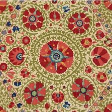 Red/Green Asian Decorator Fabric by Lee Jofa