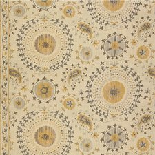 Grey/Beige Medallion Decorator Fabric by Lee Jofa