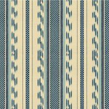 Blue Ikat Decorator Fabric by Lee Jofa