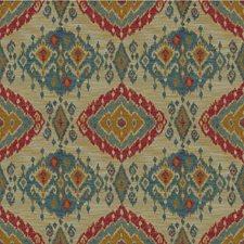 Lake/Red Ethnic Decorator Fabric by Lee Jofa