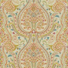 Petal/Lime Paisley Decorator Fabric by Lee Jofa