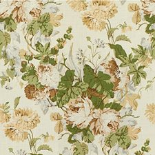 Tan/Leaf Print Decorator Fabric by Lee Jofa