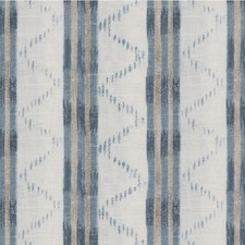 Blue Ethnic Decorator Fabric by Lee Jofa