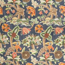 Blue/Multi Animal Decorator Fabric by Lee Jofa