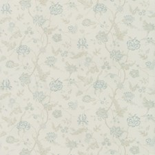 Aqua/Sage Botanical Decorator Fabric by Lee Jofa