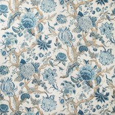 Indigo Botanical Decorator Fabric by Lee Jofa