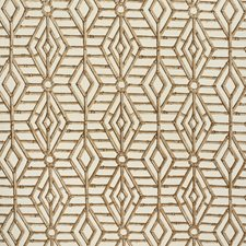 Brown Lattice Decorator Fabric by Lee Jofa