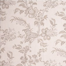 Taupe Botanical Decorator Fabric by Lee Jofa