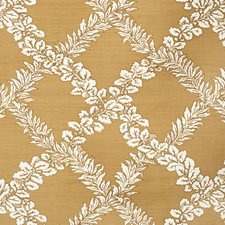 Caramel Botanical Decorator Fabric by Lee Jofa