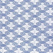 Blue/White Ethnic Decorator Fabric by Lee Jofa