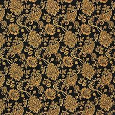 Black/Yellow Botanical Decorator Fabric by Kravet
